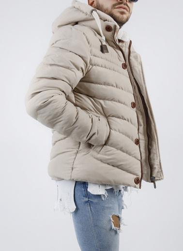 XHAN Hardal Kapüşonlu Comfort Slim Fit Şişme Mont 0Yxe4-44076-37 Bej
